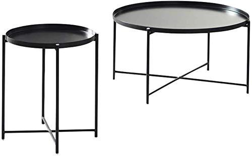 KaiKai Tabelle Freizeit Wohnzimmer Kaffee Kaffee Multifunktions-Feeding (Farbe Grün) (Color : Black) -