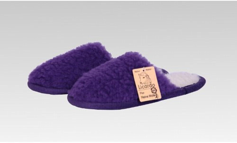 Pantoffel Wolle farbig, 100 % Schurwolle i. F., Farbe Lila, Größe 42-43, 12210106704