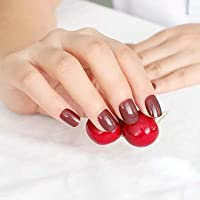 FARMERLY 2018 24pcs short paragraph new cute candy color hot buy fake fingernails complete 22 color Can choose: SN535