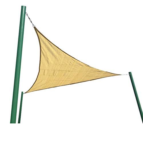 Telone Parasole Vela Parasole Vela Impermeabile Giardino Esterno Cortile Festa Protezione Solare 3x3x3 M Triangolo Baldacchino 98% Protezione UV