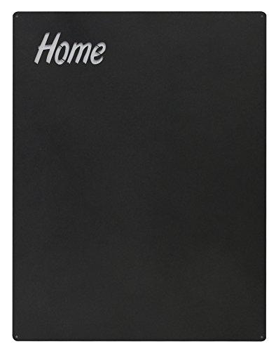 KalaMitica Home-Design magnetische Kreidetafel aus Stahl. Größe 74x57x0,12cm. Farbe: Anthrazit.