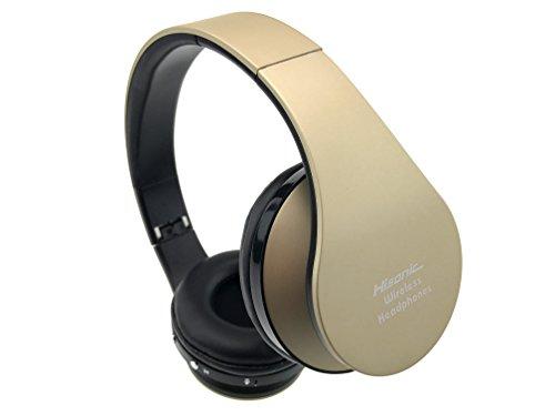Bluetooth Headset Wireless Over ear Headphones Stereo Hisonic Foldable Sport fan Microphone headset bluetooth headphone sporting goods SUN8252 gold