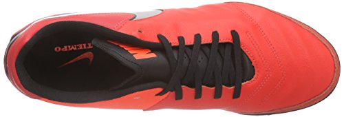 Nike Tiempo Genio Ii Leather Tf, Chaussures de Football Homme Rot (Light Crimson/Total Crimson/Metallic Silver)