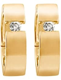 CHRIST Diamonds Damen-Creole 585er Gelbgold 2 Diamant ca. 0,10 ct. One Size, gold