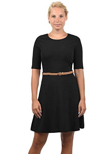 VERO MODA Scarlet Damen Jerseykleid Shirtkleid Kleid Mit Rundhals-Ausschnitt Elastisch, Größe:XXL, Farbe:Black
