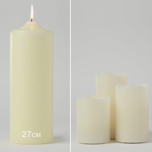 Conjunto de 3 velas LED perfumadas al aroma de vainilla con mando y operadas por pilas de Lights4fun