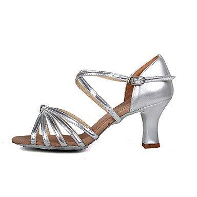 Silence @ Chaussures de danse pour femme pour Latin/Salsa 2couleurs Silver