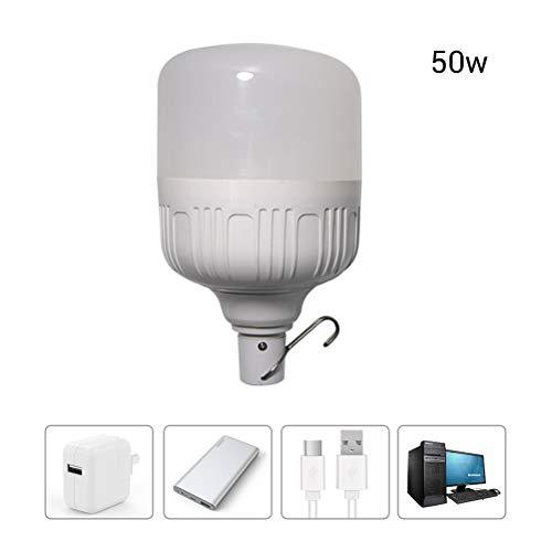 Ysoom USB LED Lampe Birne, Multifunktionale Solar LED Glühbirne, Camping, Notbeleuchtung Lampe für Camping, Wandern, Angeln, Notlicht und andere Outdoor-Aktivitäten 40/50W