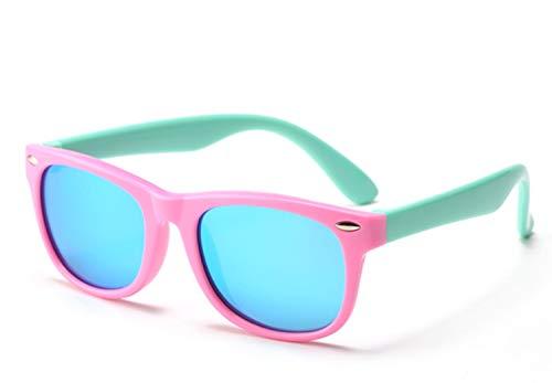 FOURCHEN Gafas de sol flexibles de goma polarizadas para niños para niñas...