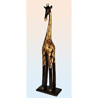Holz Figur Giraffe in versch. Größen und Farben, Größe:60 cm;Farbe: braun/gold