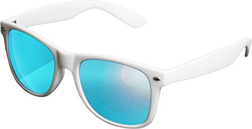 MSTRDS Likoma Mirror Unisex Sonnenbrille Für Damen und Herren mit verspiegelten Gläsern, white/blue