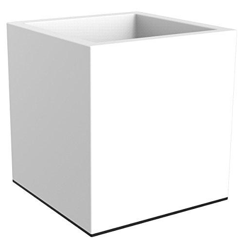 Elho 1424323915000fioriera vivo quadrato con ruote: 40cm, bianco, 40x 40x 30cm