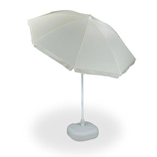 2 tlg. Sonnenschirm Set, Sonnenschirm 180 cm Spannweite, Sonnenschirmständer, Schirmständer, Neigefunktion