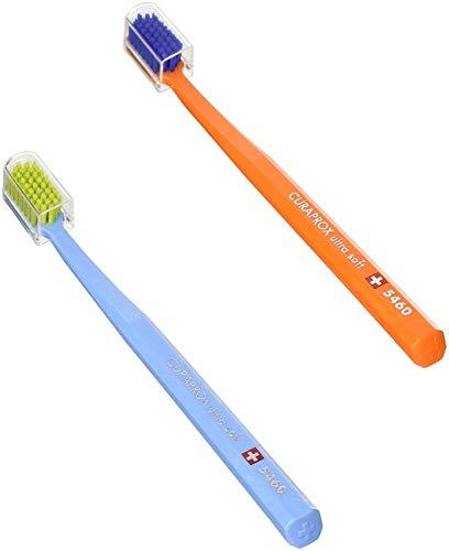 CURAPROX CS 5460 Handzahnbürste ultra soft, 2 Stück, (farblich sortiert, Farbe nicht wählbar), sehr weiche Zahnbürste, toothbrush