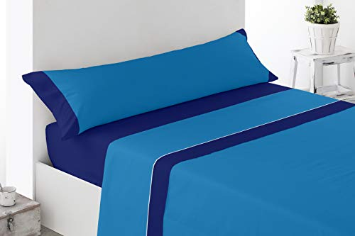Cabetex Home - Juego sábanas Lisas - Colores Combinados