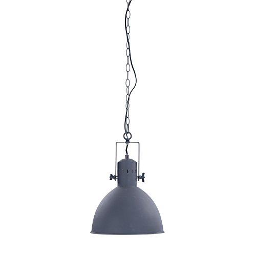 Suspension Design « INDUSTRIA » 40 cm, Gris/Blanc, métal