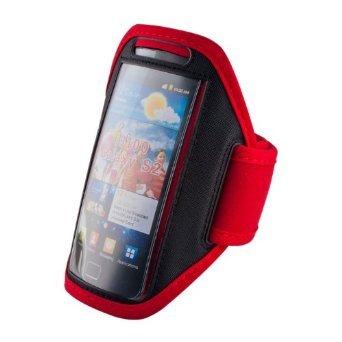 handy-point Armhalter, Armband für Sport, Laufen, Joggen für Samsung Galaxy S4, S5, S5 Neo, S7, A5 2016, Alpha, Grand Neo, Sony Xperia Z1, Z2, Z3, HTC One M8, One E8, Desire Eye, 620, LG L Bello, G3s, L80, G2, Lumia 535, 930, 830... Universell 14,5 cm x 8 cm mit Fach für Schlüssel, Kopfhörer, Rot