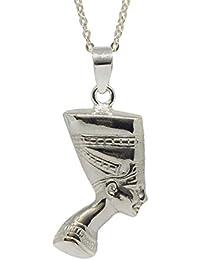 d23f4af8e6e6 Sicuore Collar Colgante Nefertiti para Mujer Hombre - Plata De Ley 925  Incluye Cadena De Plata