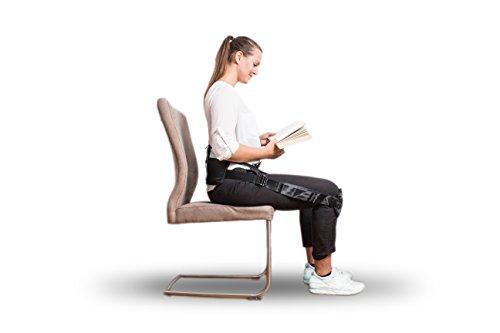 JASA med Rückenstützgürtel: Rückengurt, Geradehalter, Rückentrainer, Yoga-Gurt, Lendenstütze - zur Linderung von Rückenschmerzen und Entwicklung einer gesunden Körperhaltung