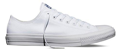 Converse Unisex-Erwachsene Sneakers Chuck Taylor All Star II C150154 Low-Top, Weiß White/Navy, 36 EU