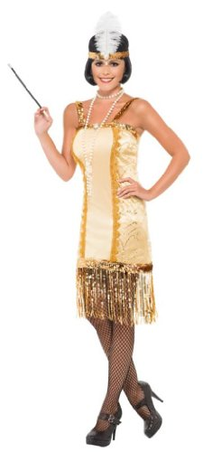 Imagen de smiffy's  disfraz de charlestón años 20s para mujer, talla l 29188l  alternativa