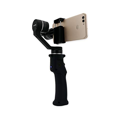 Eyemind 3-Axis Gimbal Handheld Stabilizer para Smartphone iPhone Android (Color: Negro)