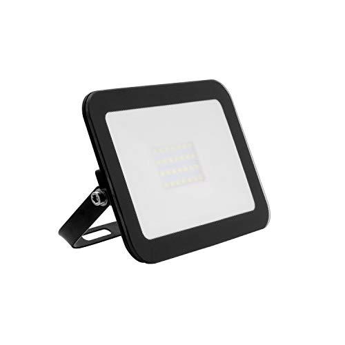 Foco Proyector LED Slim Cristal 20W Negro Blanco Frío 6000K-6500K
