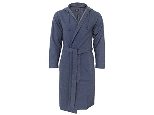 BOSS Hugo Boss Herren Morgenmantel, Bademantel 'Denim Robe' 463 Open Blue