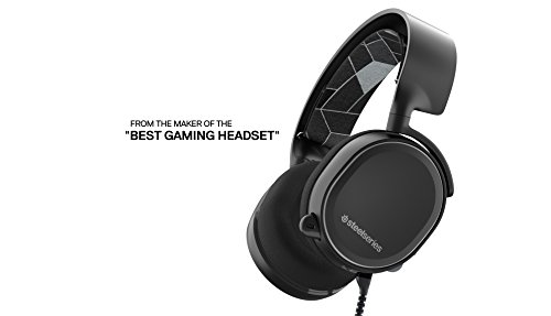 SteelSeries Arctis 3, Gaming Headset, 7.1 Surround for PC, Software Management, (PC / Mac / Playstation / Nintendo Switch / Mobile / VR) – Black