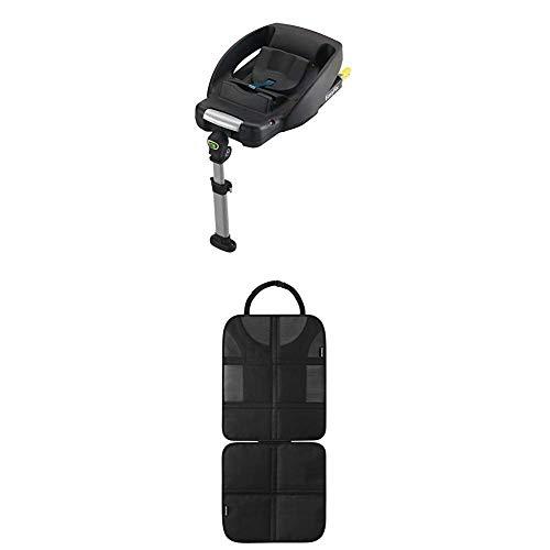 Maxi-Cosi EasyFix Isofix base für Babyschale CabrioFix, schwarz + Rücksitzschoner (schnell und einfach zu montieren) schwarz