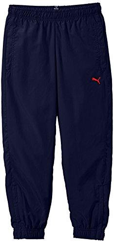 Puma Pantaloni da bambino ESS Large Logo Woven Pantaloni Closed B, Ragazzo, Hose ESS Large Logo Woven Pants Closed B, blu, 164