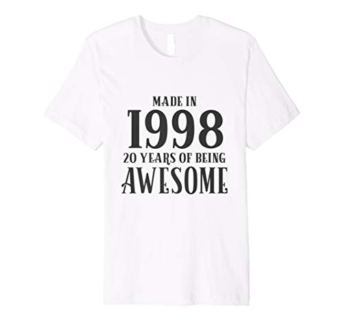 20th Birthday Tshirt Girls Gift 1998 Daughter 20 Years Old
