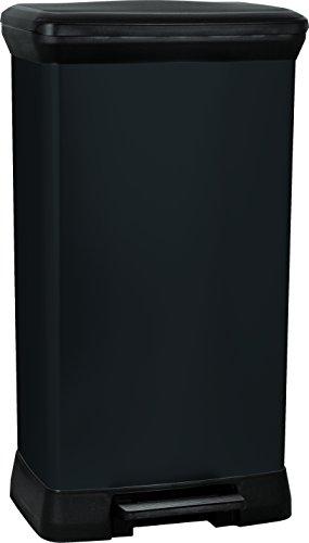 curver-50-litre-metal-effect-pedal-deco-bin-black