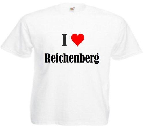 T-Shirt I Love Reichenberg Größe 2XL Farbe Weiss Druck Schwarz