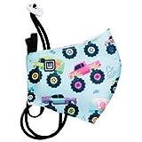 WEARK Mascarilla higienica reutilizable infantil 100% microfibra certificado 96 lavados con funda interior para filtro y sist
