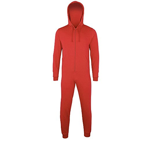 Comfy Co - Jumpsuit 'All-in-One' Red