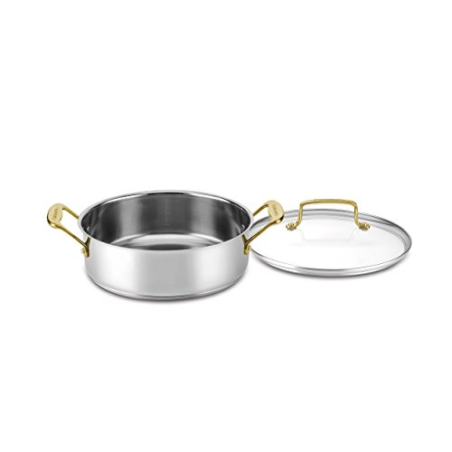 Cuisinart C7M55-24GD Mineral Collection Casserole with Cover, Medium, Stainless Steel Casserole Cover