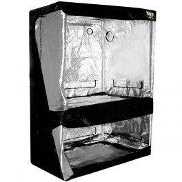 Chambre de culture Dual 120 x 80 x 200 cm - Black Silver