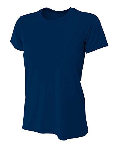 A4Performance de refroidissement pour femme Col rond à manches courtes pour bleu marine