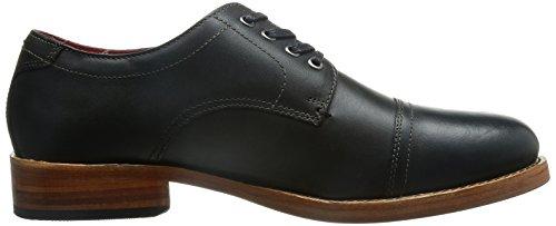 Base London Vanguard Herren-Leder-Schuhe Black
