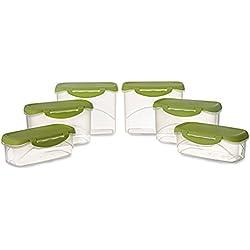 All Time Plastics Delite Container Set, 6-Pieces, Green