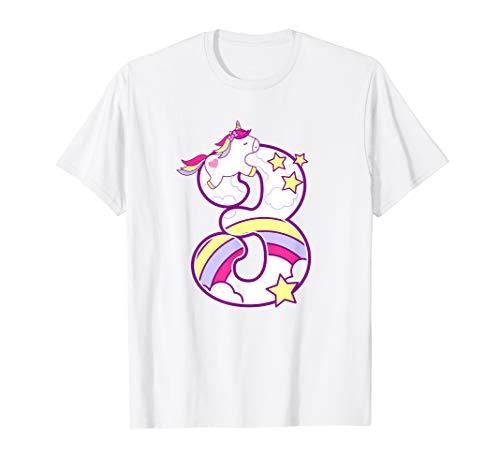 Kids 3 Nd Unicorn Birthday T Shirt Years Old Tee Gifts