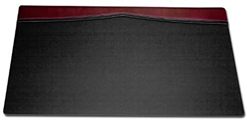 Dacasso Desk Pad with a Top-Rail, 34 by 20-Inch, Burgundy by Dacasso