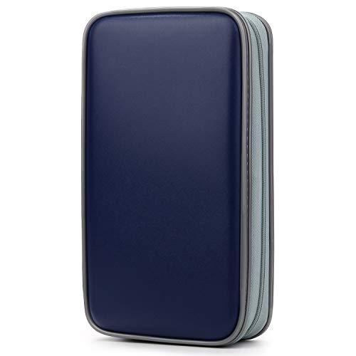 CD/DVD Tasche DVD Lagerung DVD Case VCD Wallets Speicher Organizer Hard Plastik Schutz DVD Lagerung (Dunkelblau) ()
