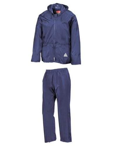 Regenanzug ( Jacke und Hose), absolut wasserdicht ,royal blue, M M,Royal Blue