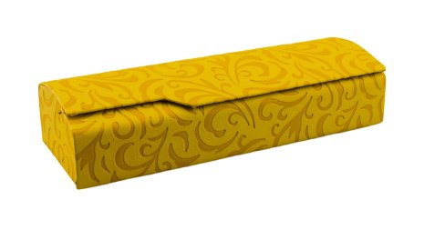 Edison & King Brillenetui aus Kunstleder mit Prägedruck und schwarzem Mikrofasertuch - in verschiedenen Farben (gelb)