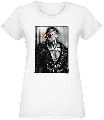 Chris Brown Sonnenbrille - Chris Brown Sunglasses T-Shirt Top Short Sleeve Jersey for Women 100% Soft Cotton Womens Clothing Small