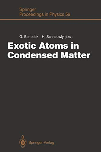 Exotic Atoms in Condensed Matter: Proceedings of the Erice Workshop at the Ettore Majorana Centre for Scientific Culture, Erice, Italy, May 19 - 25, 1990 (Springer Proceedings in Physics, Band 59)
