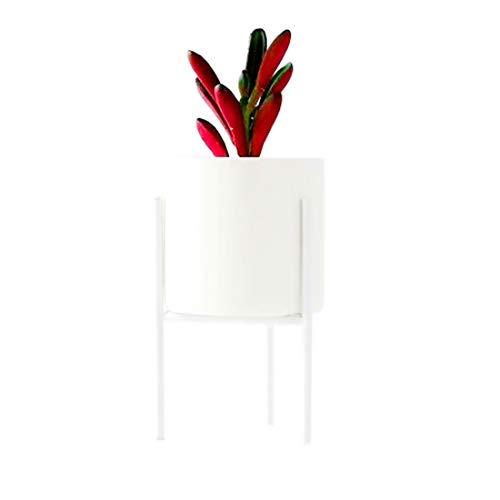 FLM Regal für Blumentöpfe - Pflanzenständer aus Metall für Kräuter und Blumen 14.5×8/M Weiß