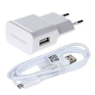 S5 Samsung Ladekabel für I9505 Galaxy S4 ETA-U90EWE GSTD +Original Datenkabel Weiß Netzteil Ladegerät MicroUSB 2A Ampere 2000 mAh Ladekabel (Farbe, White - Charger + Cable1)